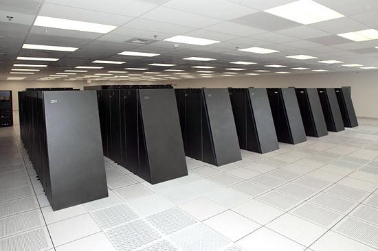 Vue partielle d'un Blue Gene d'IBM